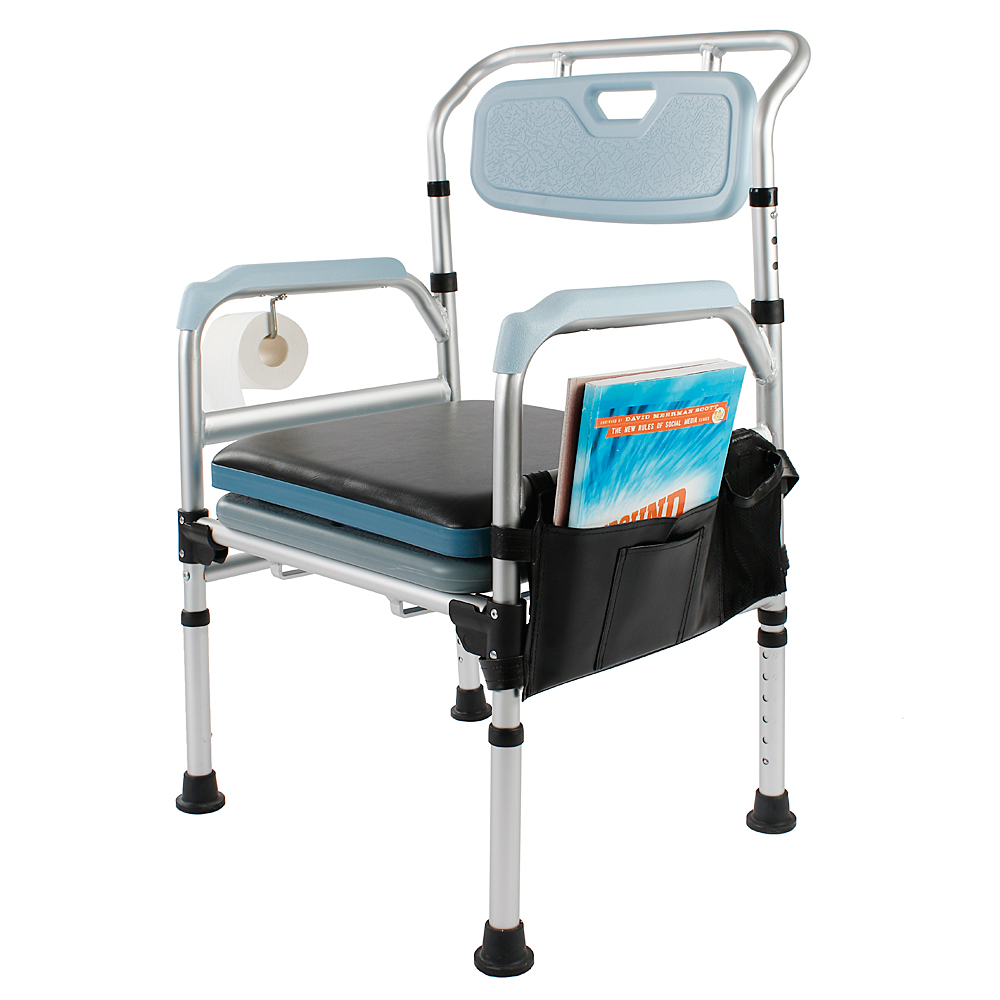 Transport Toilet Chair Medical Commode Chair Bedside Bath Elderly ...
