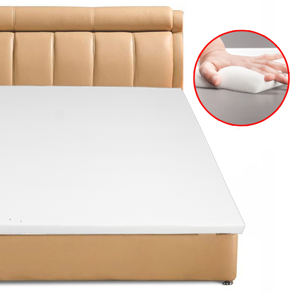 3 inch gel infused memory foam mattress topper full size single layer bed pad 750218474291 ebay. Black Bedroom Furniture Sets. Home Design Ideas
