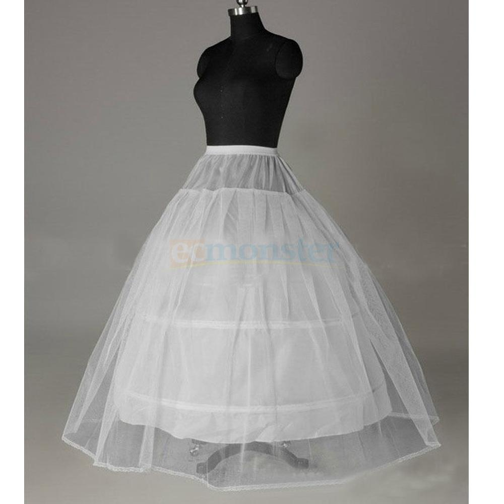 Bridal Petticoat Crinoline Hoop Skirt A-Line Wedding Slip Ball Gown ...
