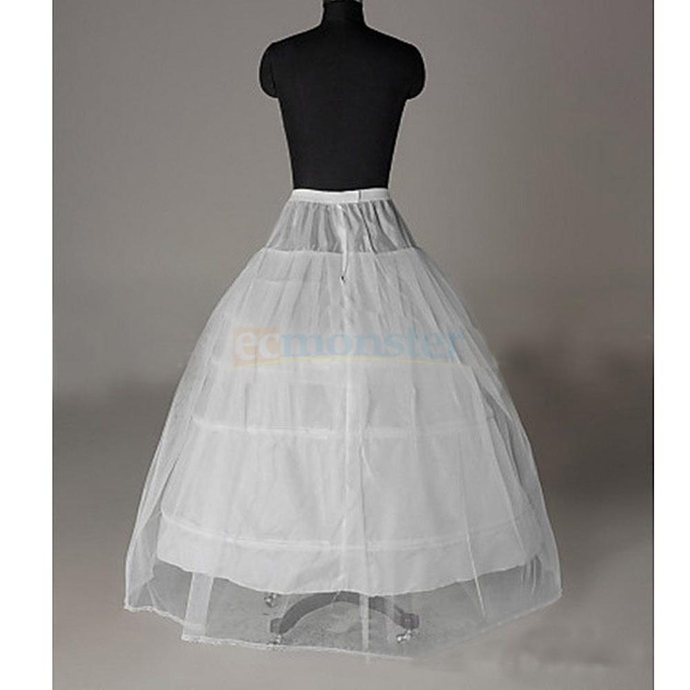 Bridal Petticoat Crinoline Hoop Skirt A-Line Wedding Slip Ball Gown ...