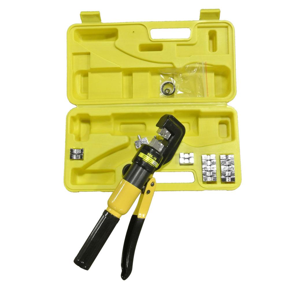 hydraulic crimping tool kit 10t cable crimper dies wire terminal crimp lug set ebay. Black Bedroom Furniture Sets. Home Design Ideas