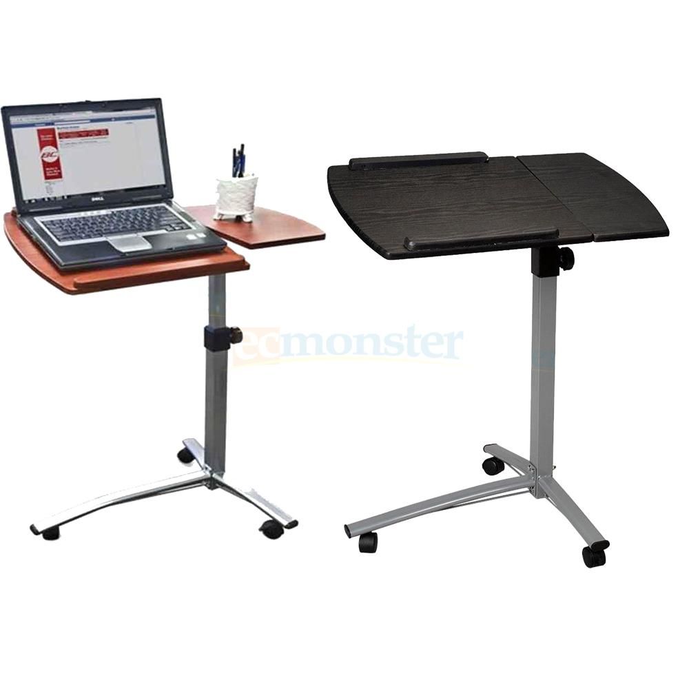 New Height Adjustable Rolling Laptop Desk Hospital Table Cart Over Bed Stand