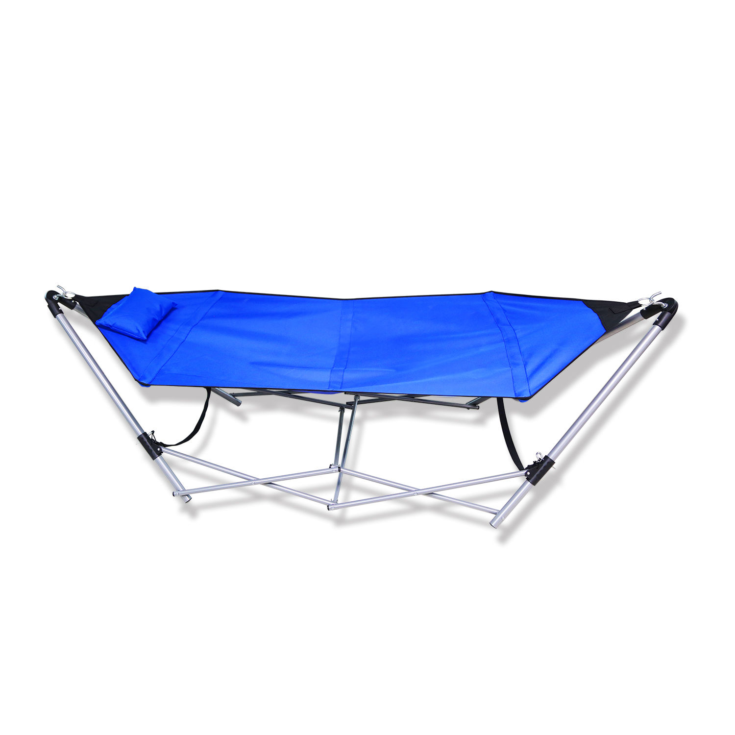 Portable Folding Porch Camping Hammock Lounge Bed Cot with Frame Stand Blue - Portable Folding Porch Camping Hammock Lounge Bed Cot With Frame
