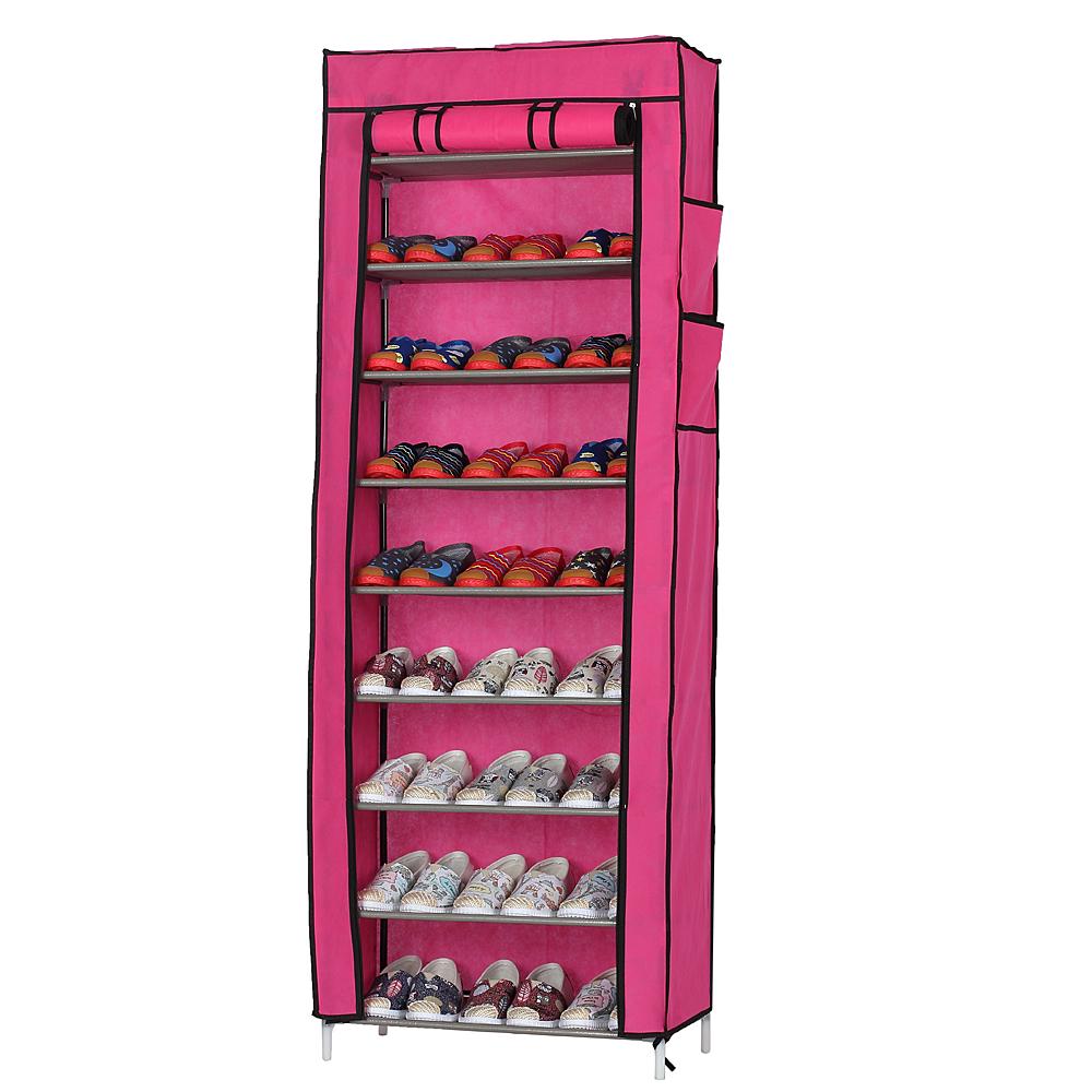 10 layer 9 grid shoe rack shelf storage closet organizer. Black Bedroom Furniture Sets. Home Design Ideas