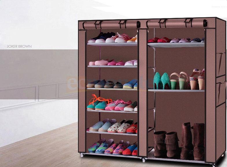 Attrayant Details About Space Saving 6 Tier 12 Home Shoe Rack Shelf Storage Closet  Organizer Cabinet