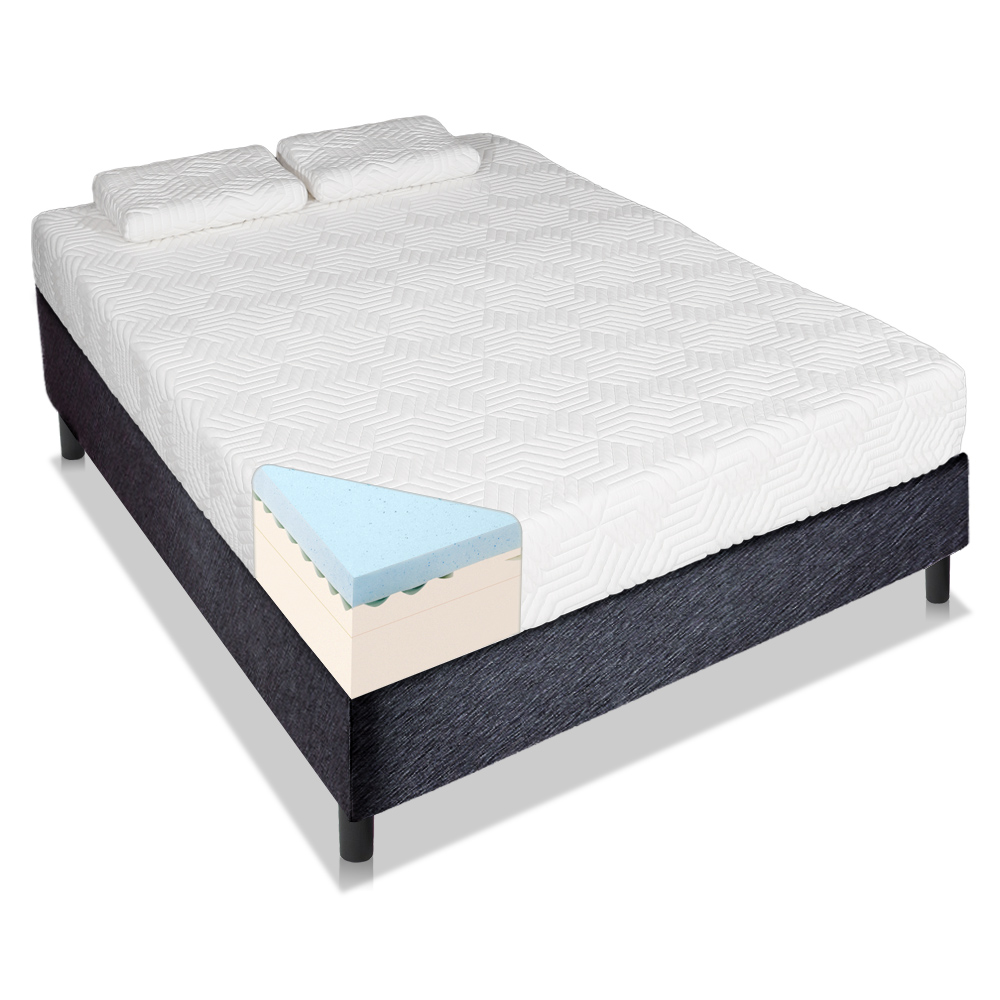 14 Three Layers Cool Medium Firm Memory Foam Mattress Queen King