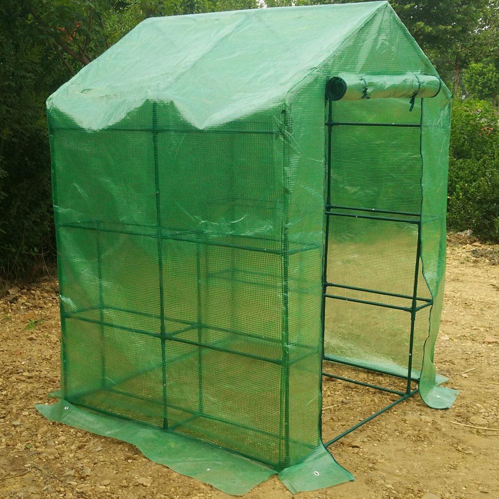 Portable Mini Greenhouse : New quot shelves greenhouse portable mini walk in