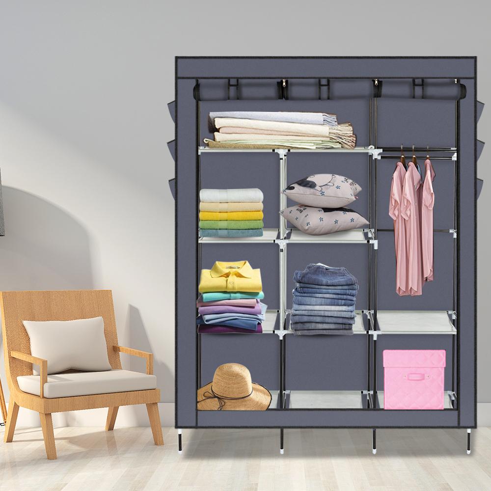 "New Non Woven Fabric Folding Underwear Storage Box Bedroom: 69"" Portable Closet Storage Organizer Dustproof Wardrobe"