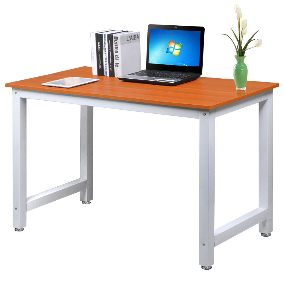 Wooden Computer Table ~ Modern office computer laptop wooden desk study table