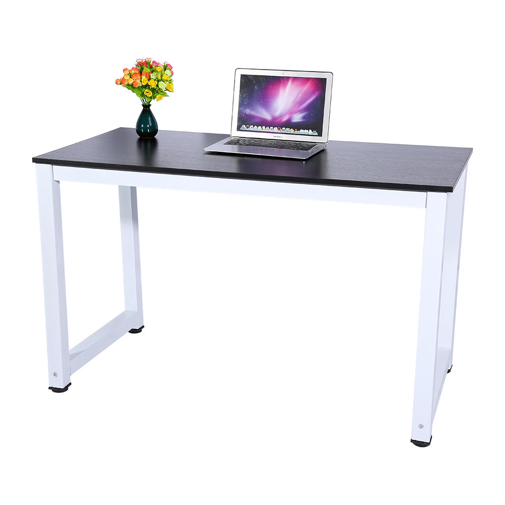 Computer Desk Black Wood Pc Laptop Table Workstation Study
