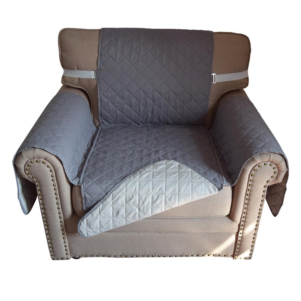 Reverse Microfiber Single Seat Sofa Cover Chair Throw Cat