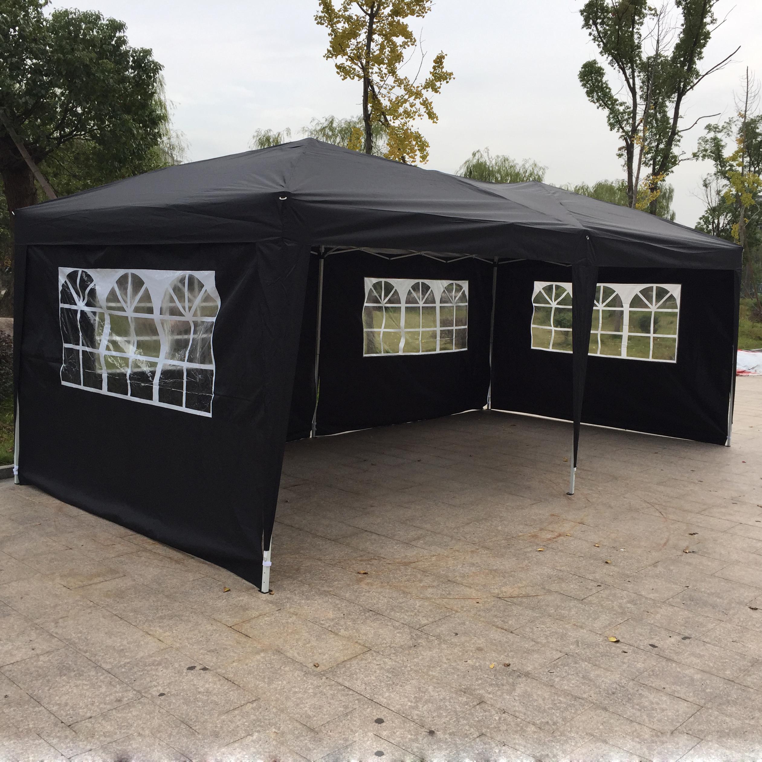 10x 20 EZ Pop UP Wedding Party Tent Gazebo Canopy 6 Sidewalls W