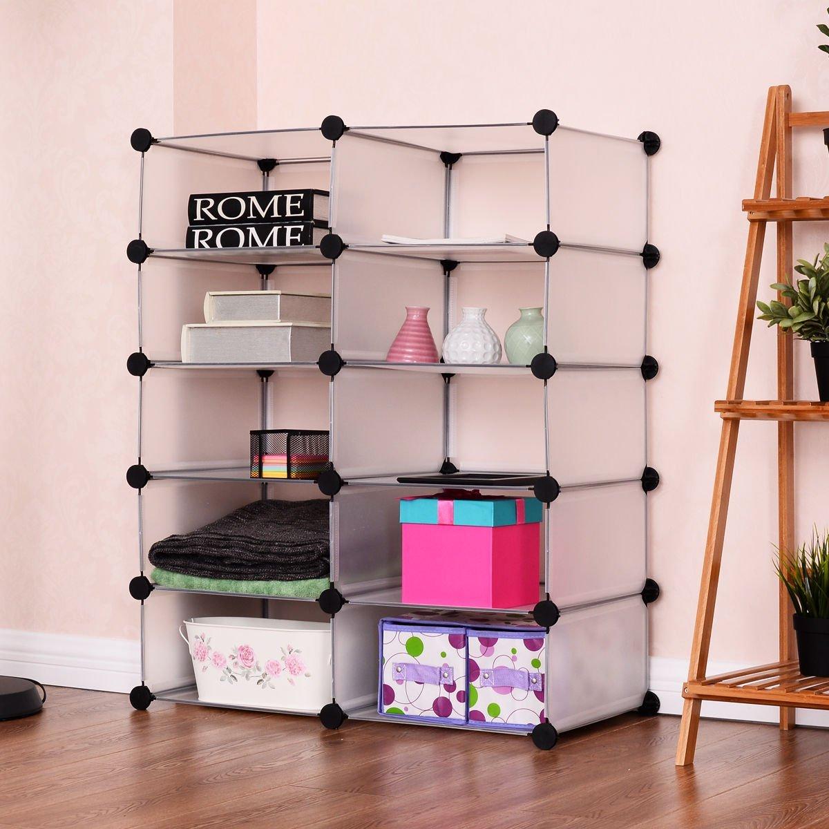 Storage Cube Organizer Closet 10 Grids Clothes Holder