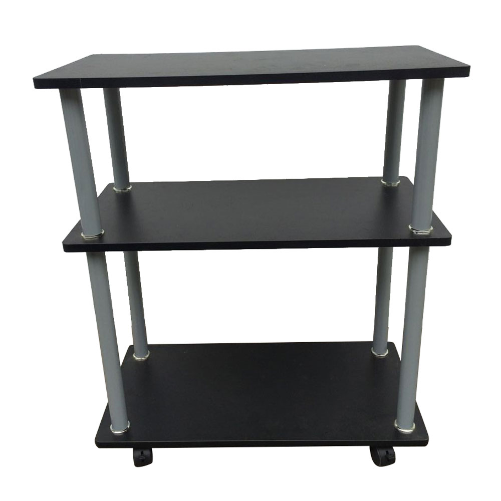3 tiers laptop fax printer cart rolling computer stand portable office table - Printer Cart