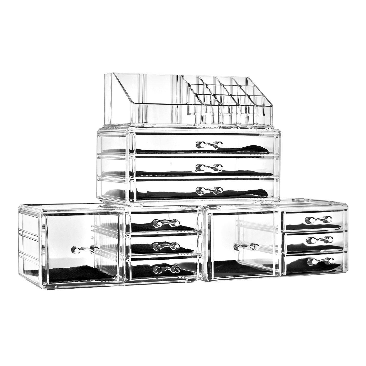 Acrylic Cosmetic Tower Organizer Makeup Holder Case Box Jewelry Storage