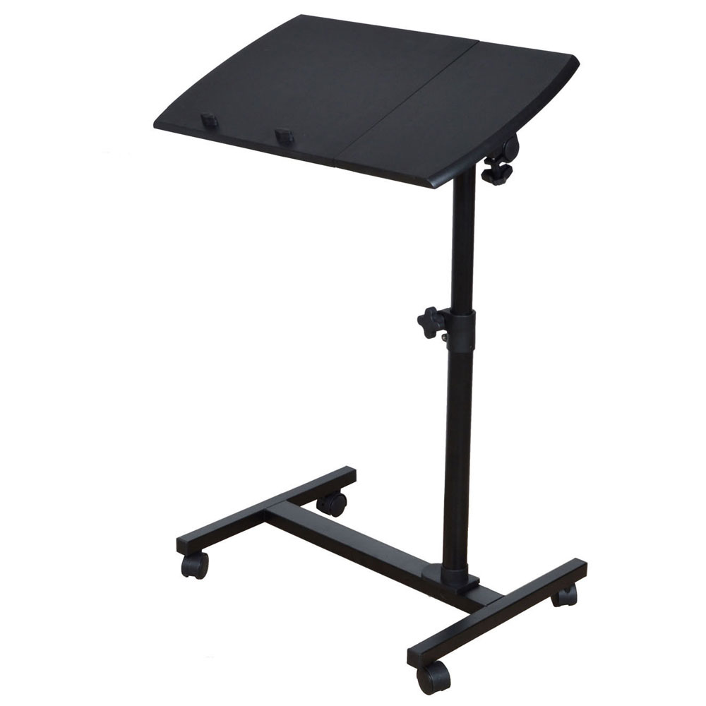 Beau Portable Mobile Rolling Laptop Cart Table Computer Stand Adjustable Desk  Tablet