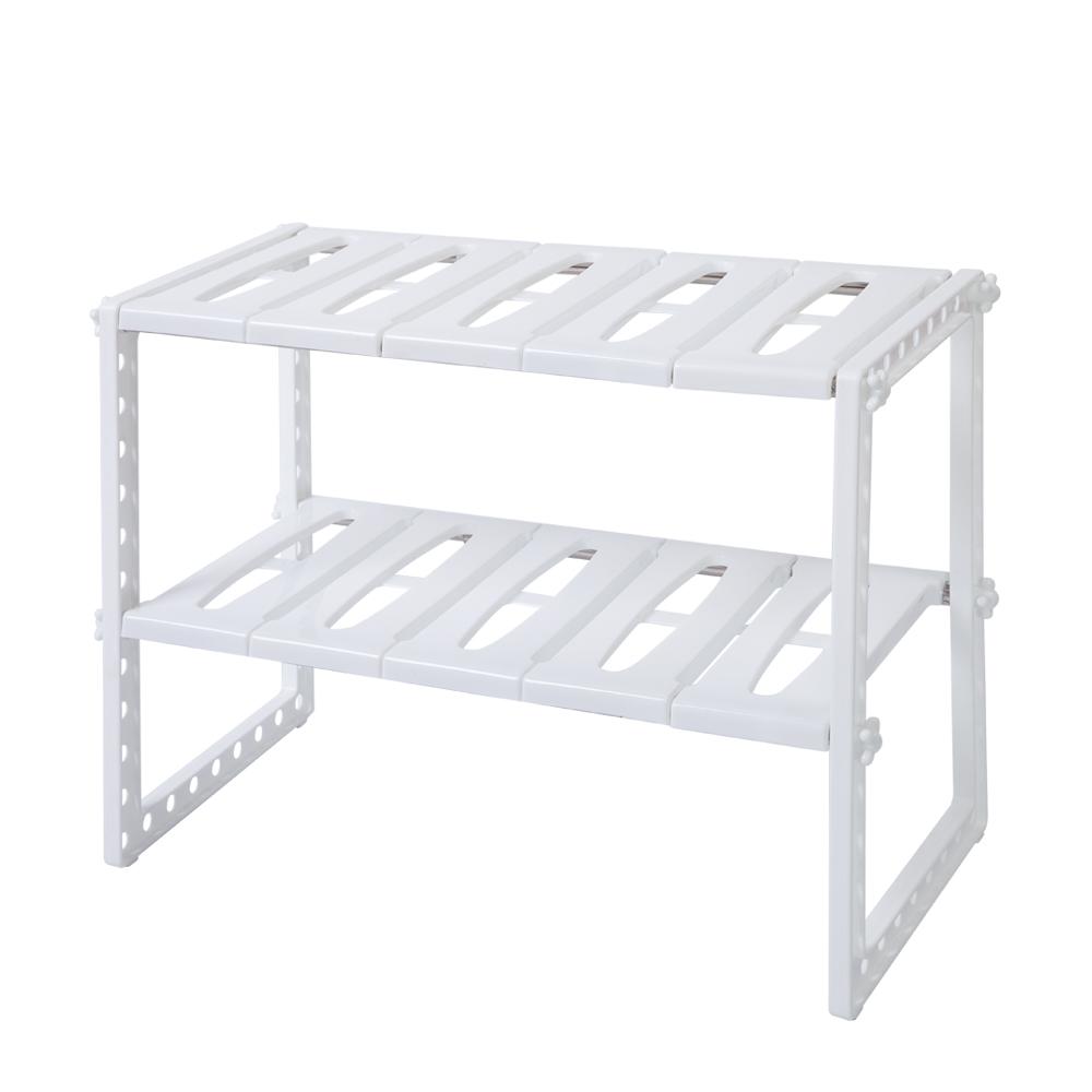 Kitchen Sink Shelf Organizer: Under Sink 2 Tier Expandable Shelf Organizer Rack Storage