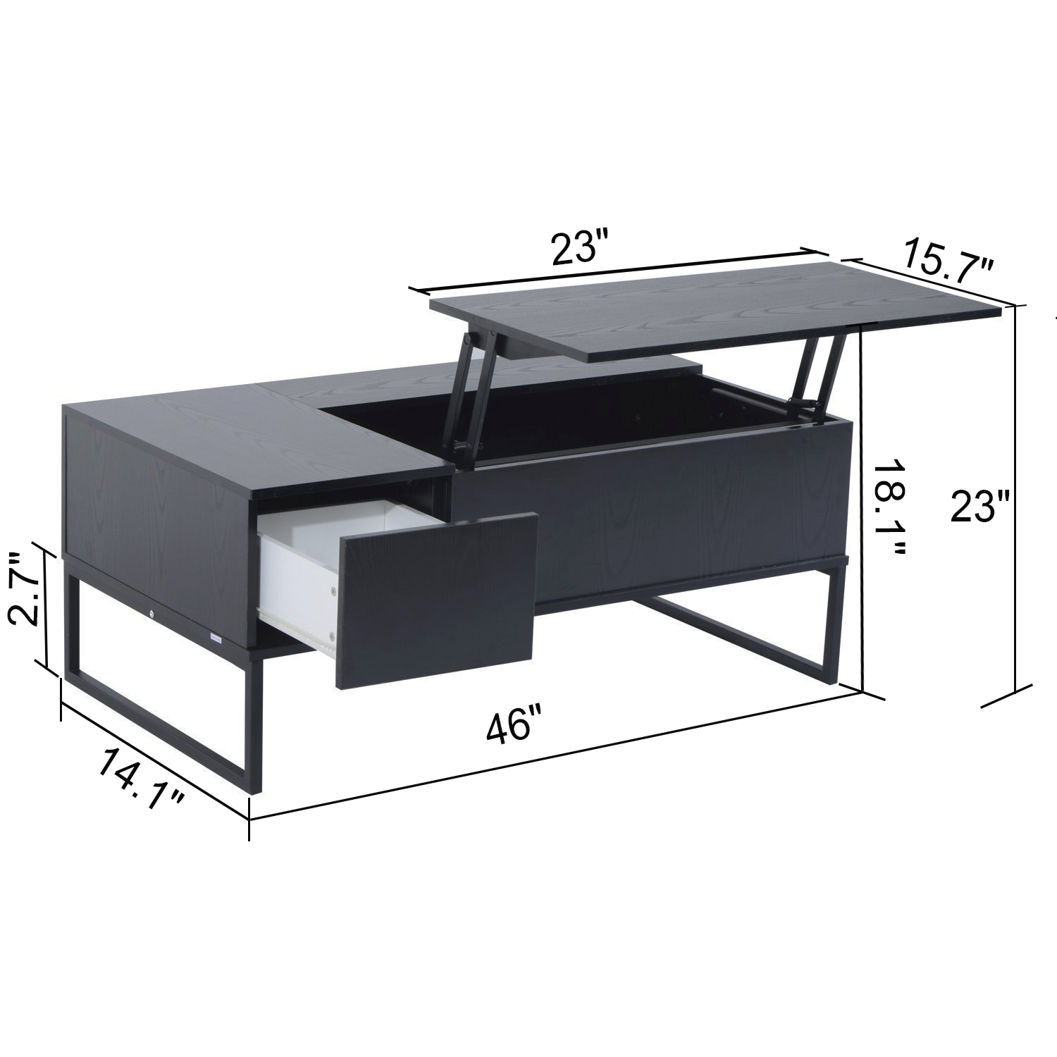 Coffee Table Hidden Chairs: Modern Lift Top Coffee Table W/ Hidden Compartment And