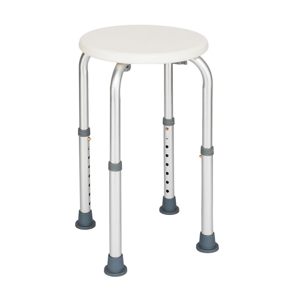 Adjustable Lightweight Medical Shower Chair Bath Stool Seat Round ...