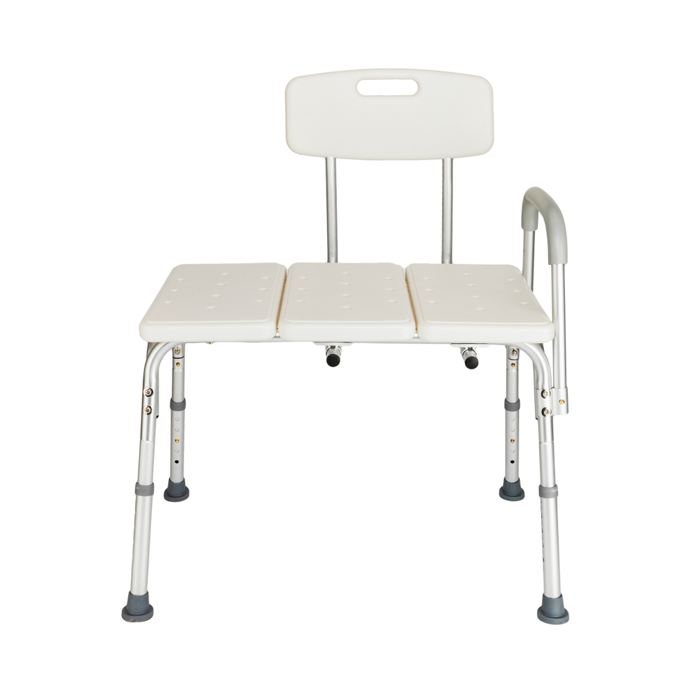 Lightweight Bath and Shower Chair Transfer Bench with Back Non-Slip ...