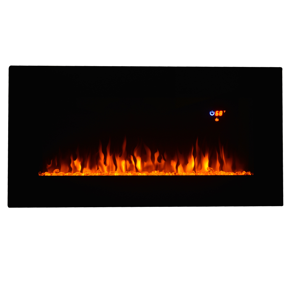 Heat 36 Quot Wall Mount Electric Fireplace Multicolor Led