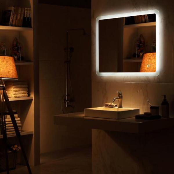 Lighted LED Frameless Backlit Wall Mirror Bathroom Makeup Mirror | eBay