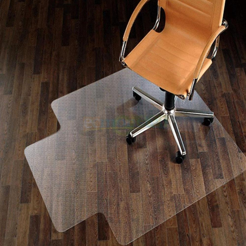 new 48 x 36 pvc home office chair floor mat for wood tile thick 7437007055031 ebay. Black Bedroom Furniture Sets. Home Design Ideas