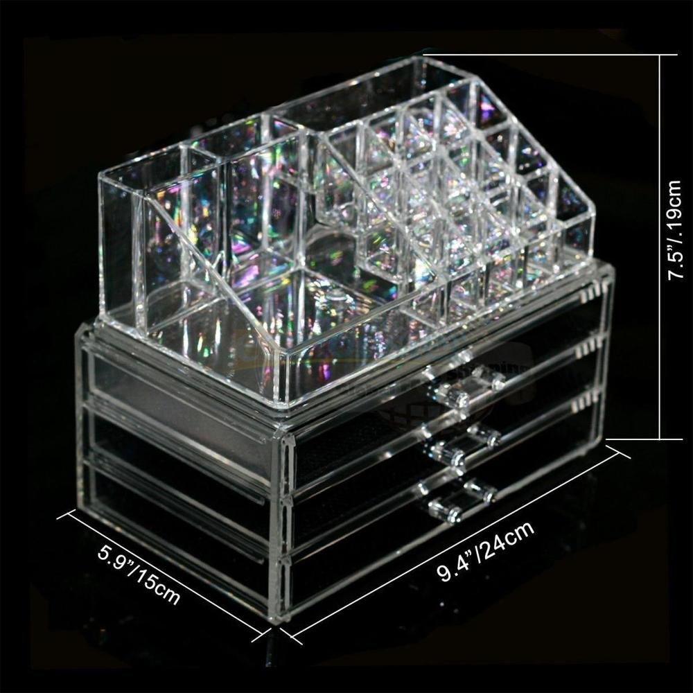 New Acrylic Cosmetic Organizer Makeup Case Holder Drawers