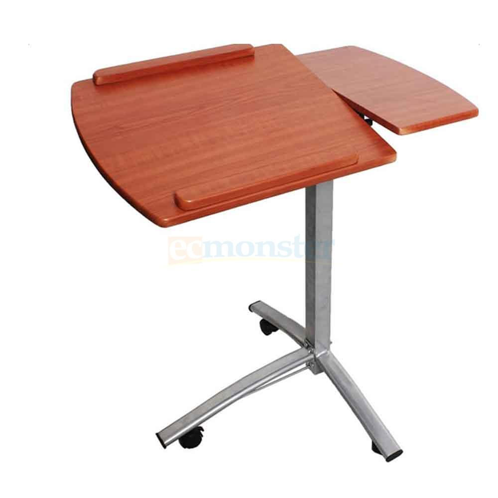 New height adjustable rolling laptop desk hospital table for How to make a bed stand