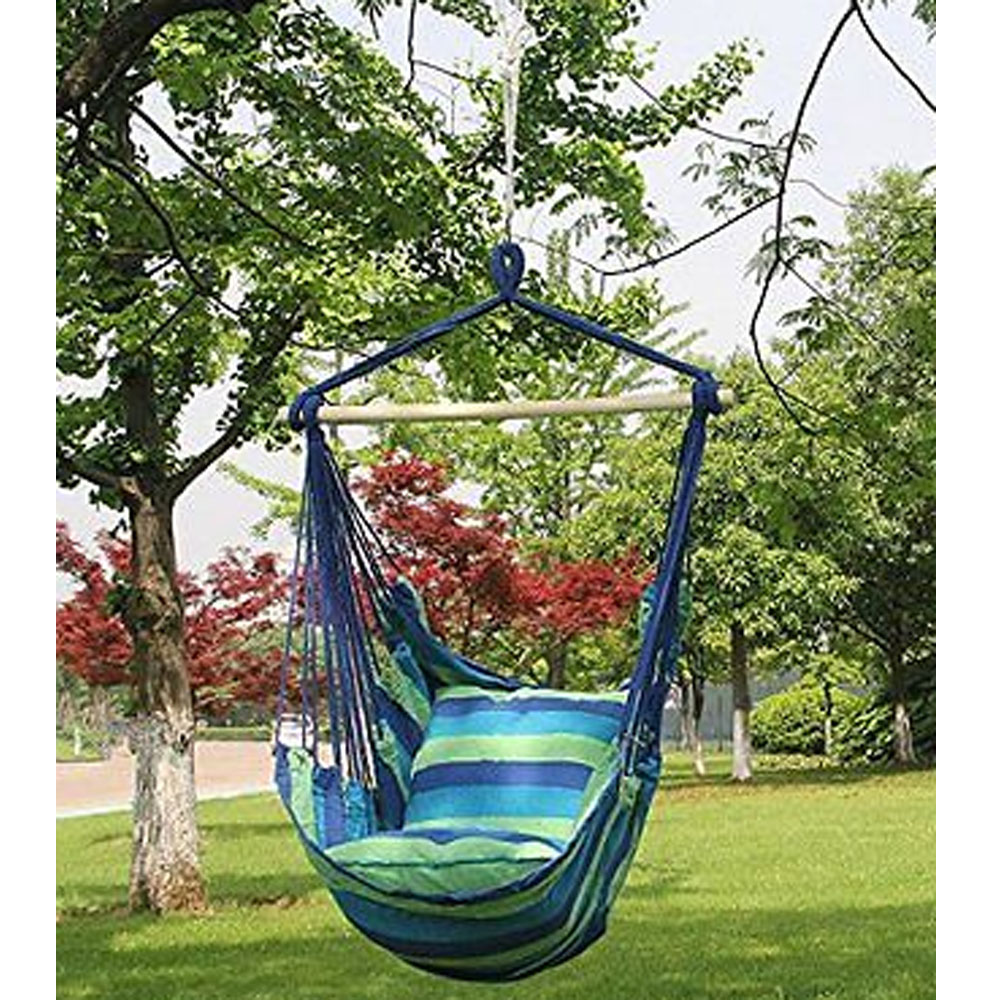 Hammock hanging rope chair porch swing seat patio camping for Rope hammock plans
