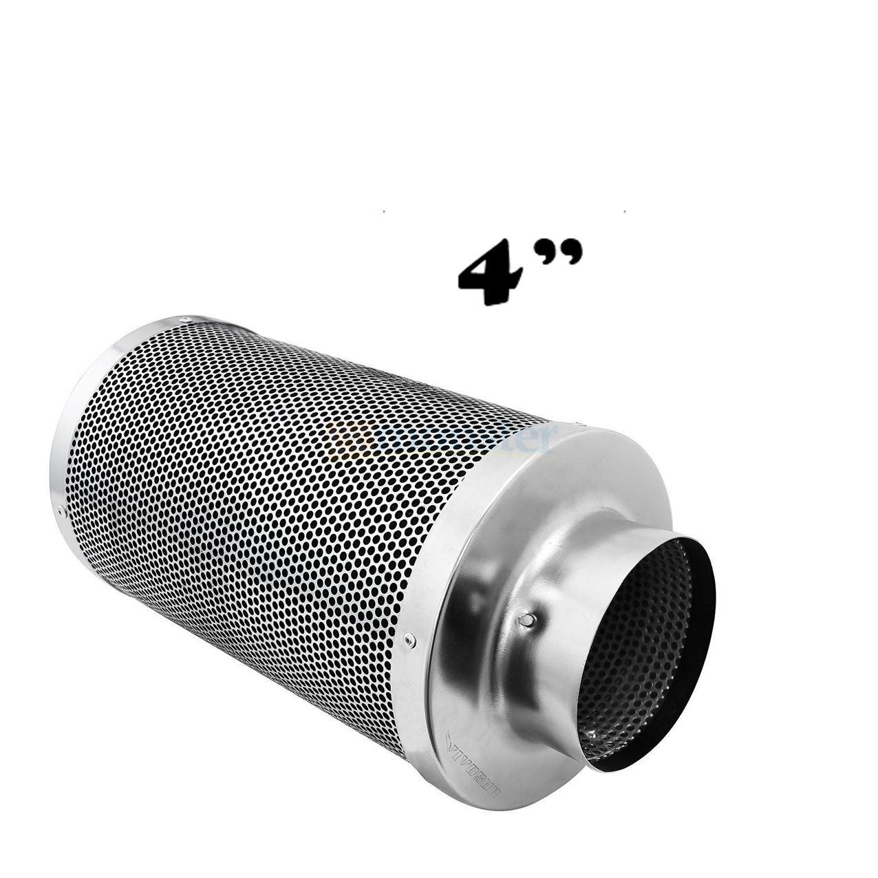 Inline Fan Structure : Air filter virgin carbon charcoal inline fan scrubber odor