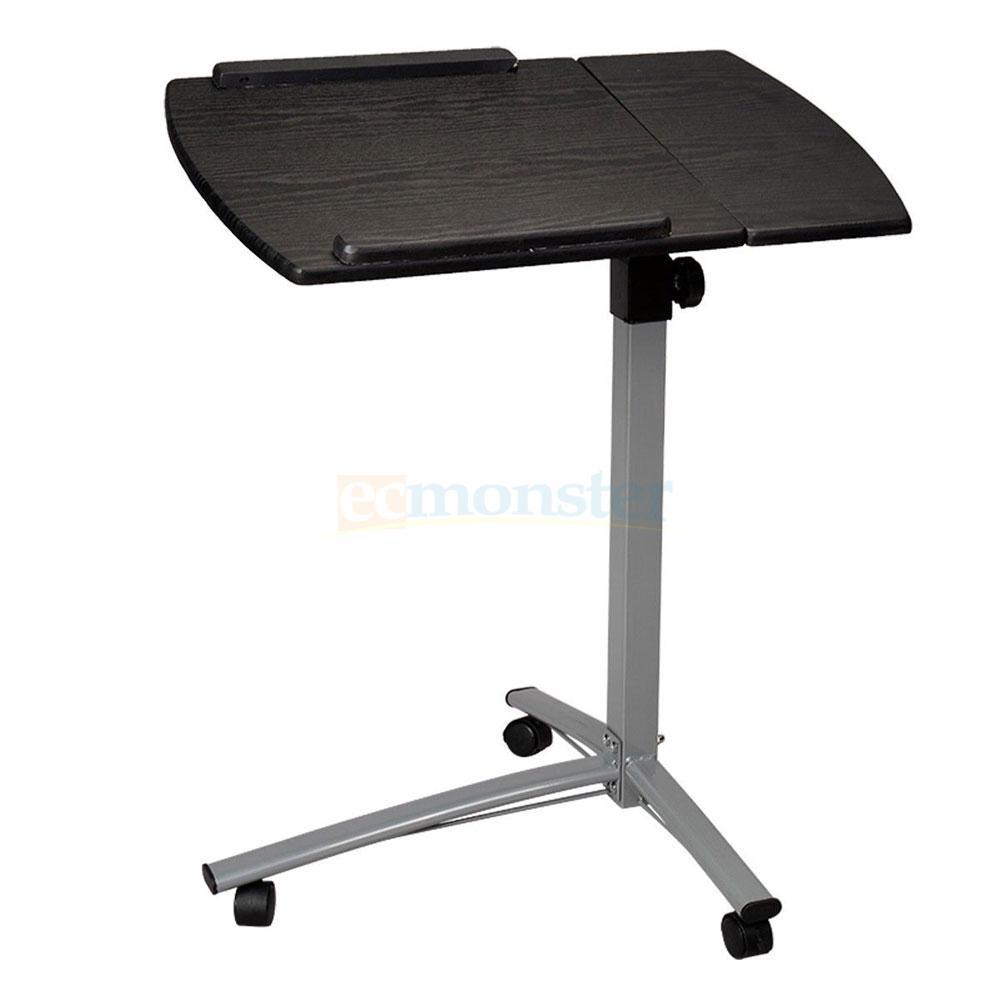 new height adjustable rolling laptop desk hospital table cart over bed stand ebay. Black Bedroom Furniture Sets. Home Design Ideas