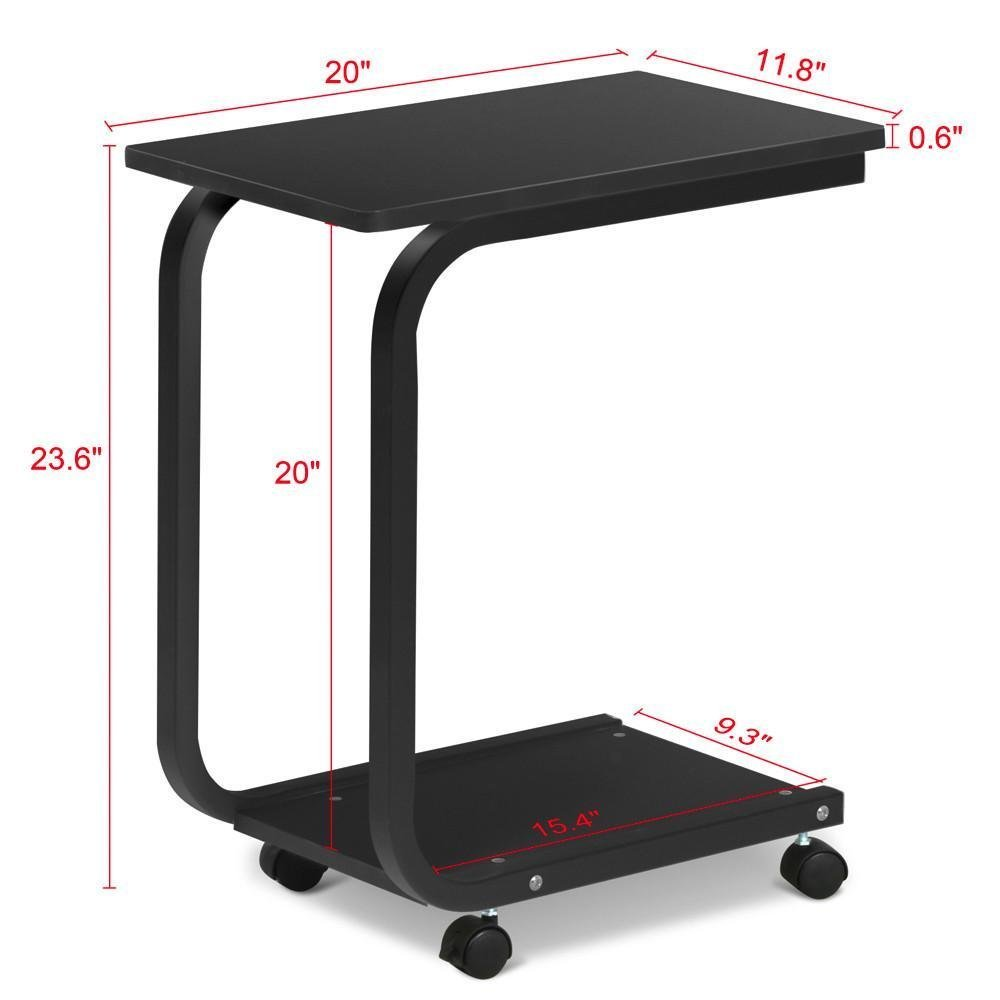 Coffee Tray Side Sofa Couch Room Console Portable Laptop Table Rolling Cart Ebay