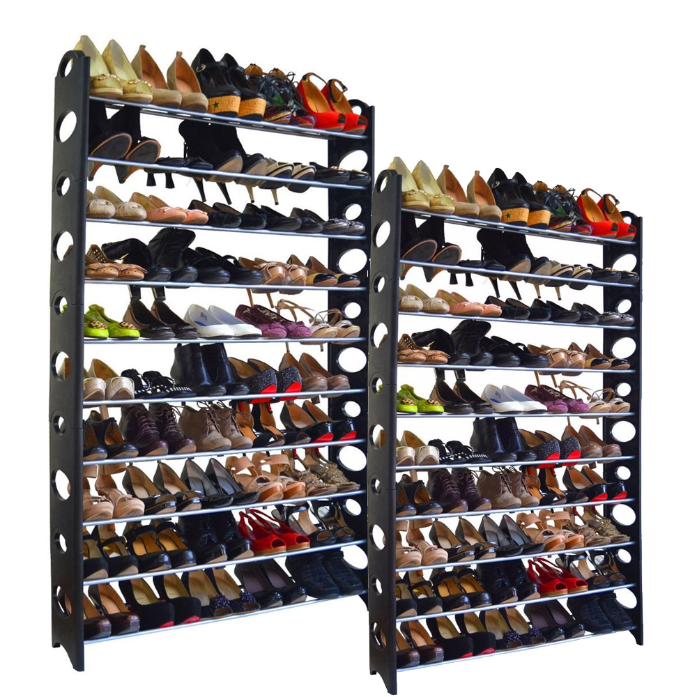 20-Tier Shoe Rack 100 Pair Wall Bench Shelf Closet
