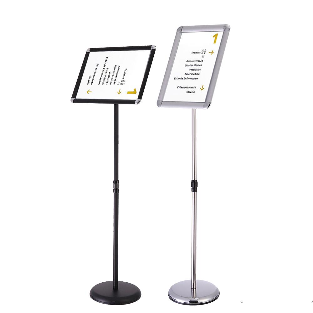 New Adjustable Sign Holder Pedestal Telescoping Stand 360°Swivel A4 ...