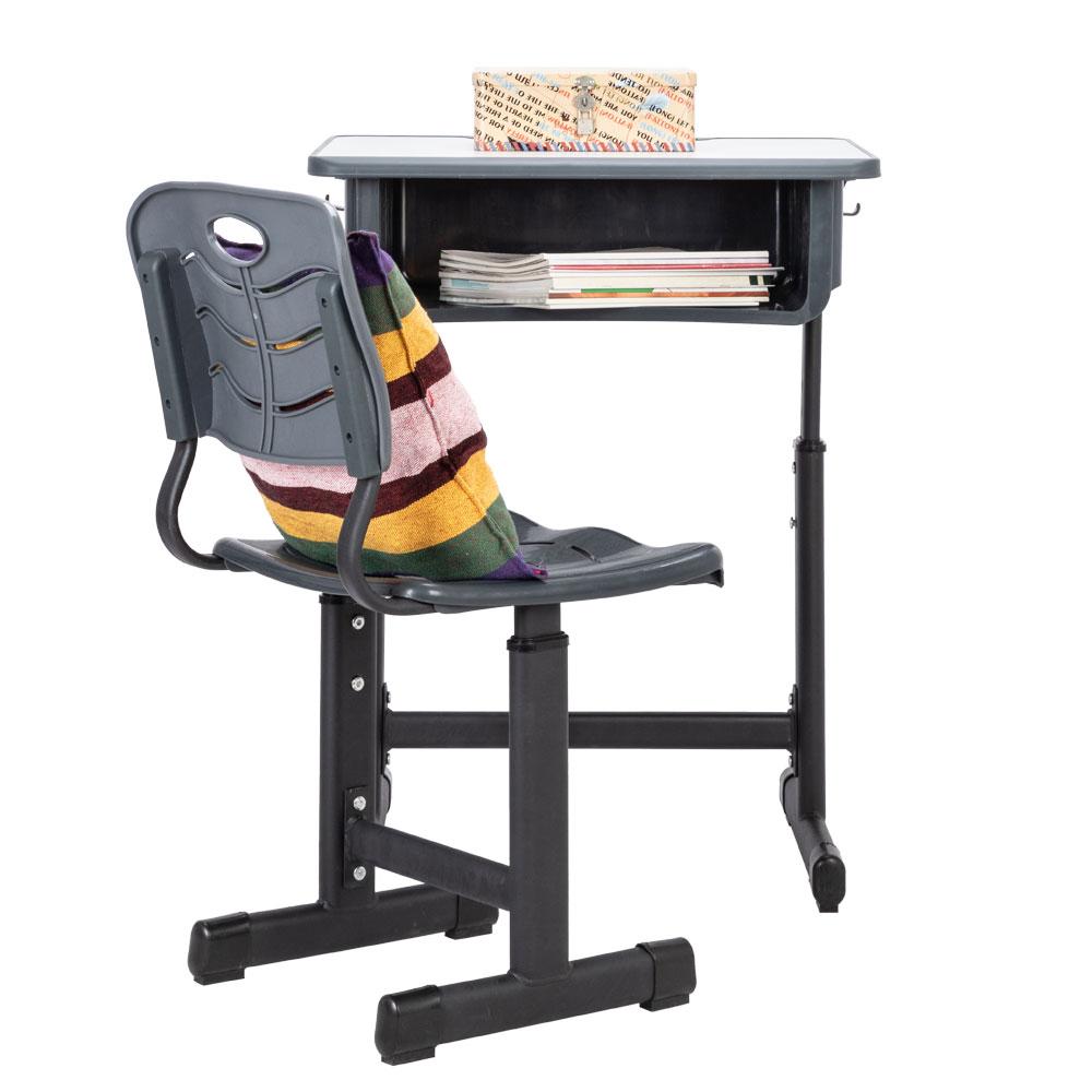 Black Adjustable Student Desk Chair Storage Kids Laptop