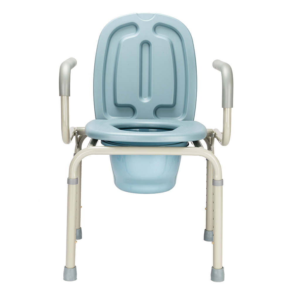 Heavy Duty Premium Medical Commode Bedside Folding Up With Lid ...
