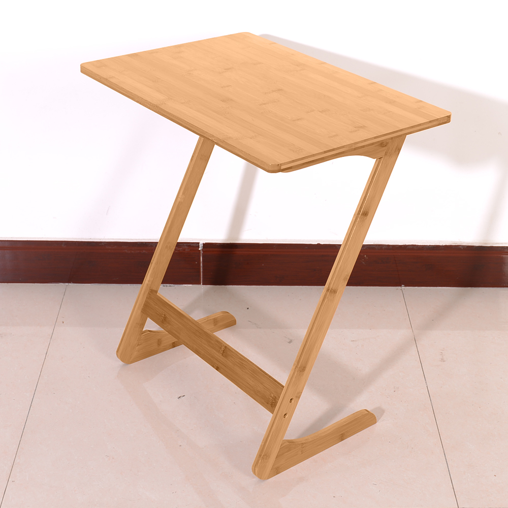 Fine Details About Z Shape Bamboo Snack Table Sofa Couch Coffee End Bed Side Laptop Desk Modern Ibusinesslaw Wood Chair Design Ideas Ibusinesslaworg