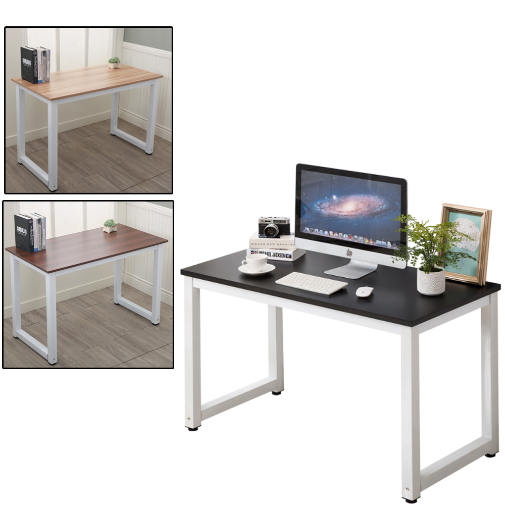 Computer Desk Pc Laptop Wood Table Home Office Study: Home Office Computer Desk PC Laptop Table Metal Leg