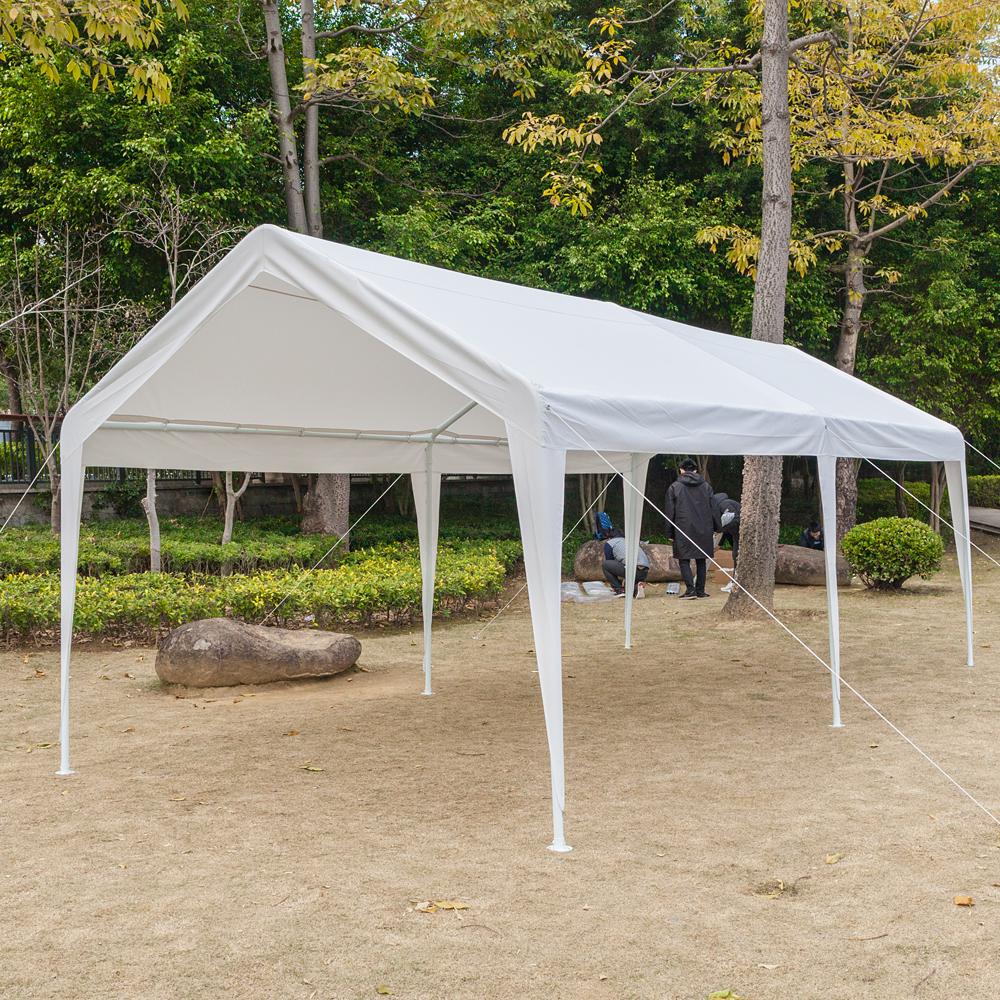 10' x 20' Steel Frame Canopy Shelter Portable Carport Car ...