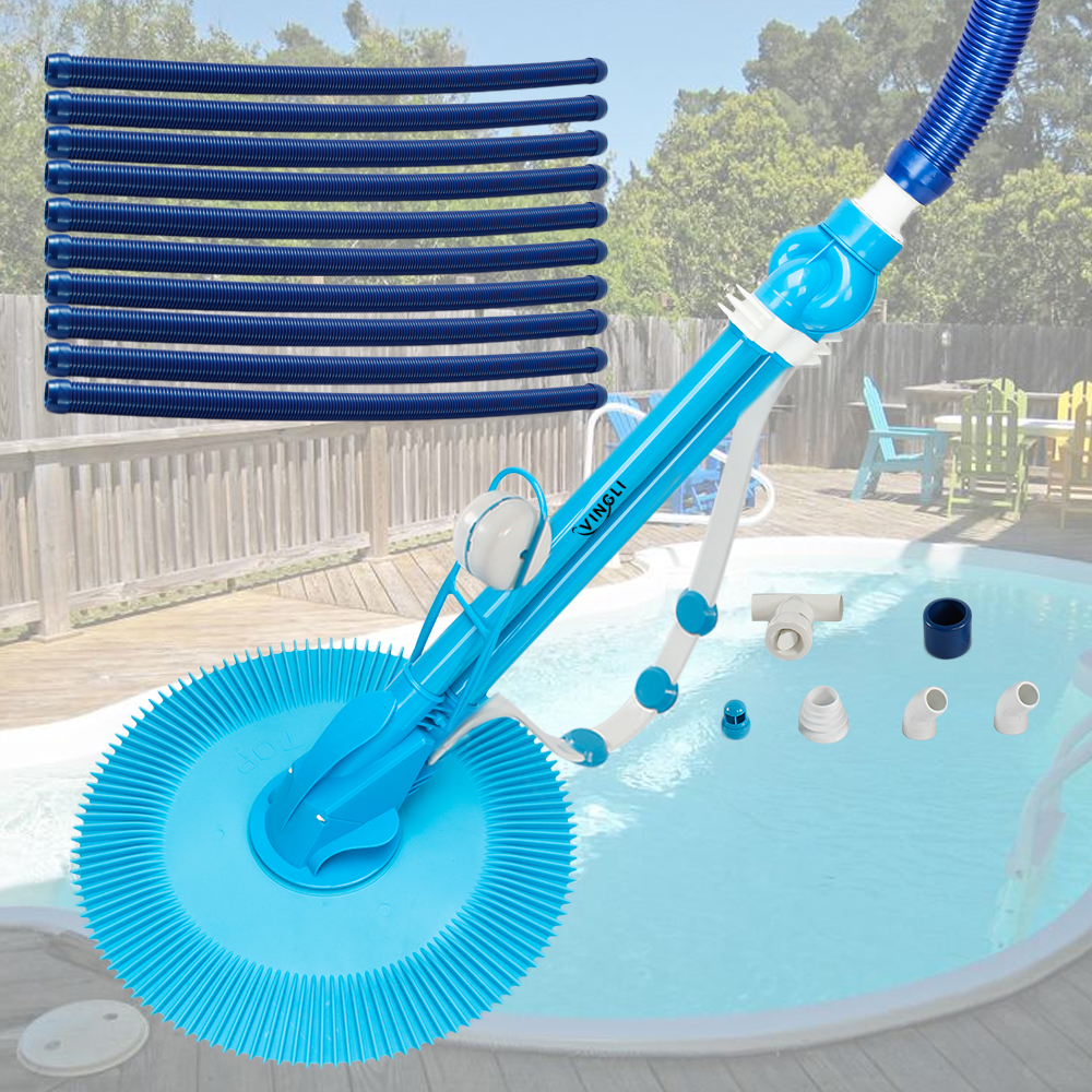 Details about In Above Ground Swimming Pool Automatic Cleaner Clean Pool  Vacuum 10x Hose Set