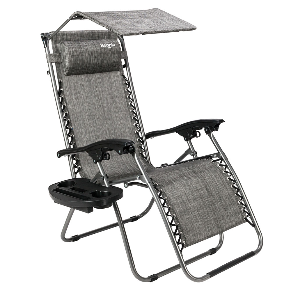 Zero Gravity Chair With Canopy Patio Sunshade Loung