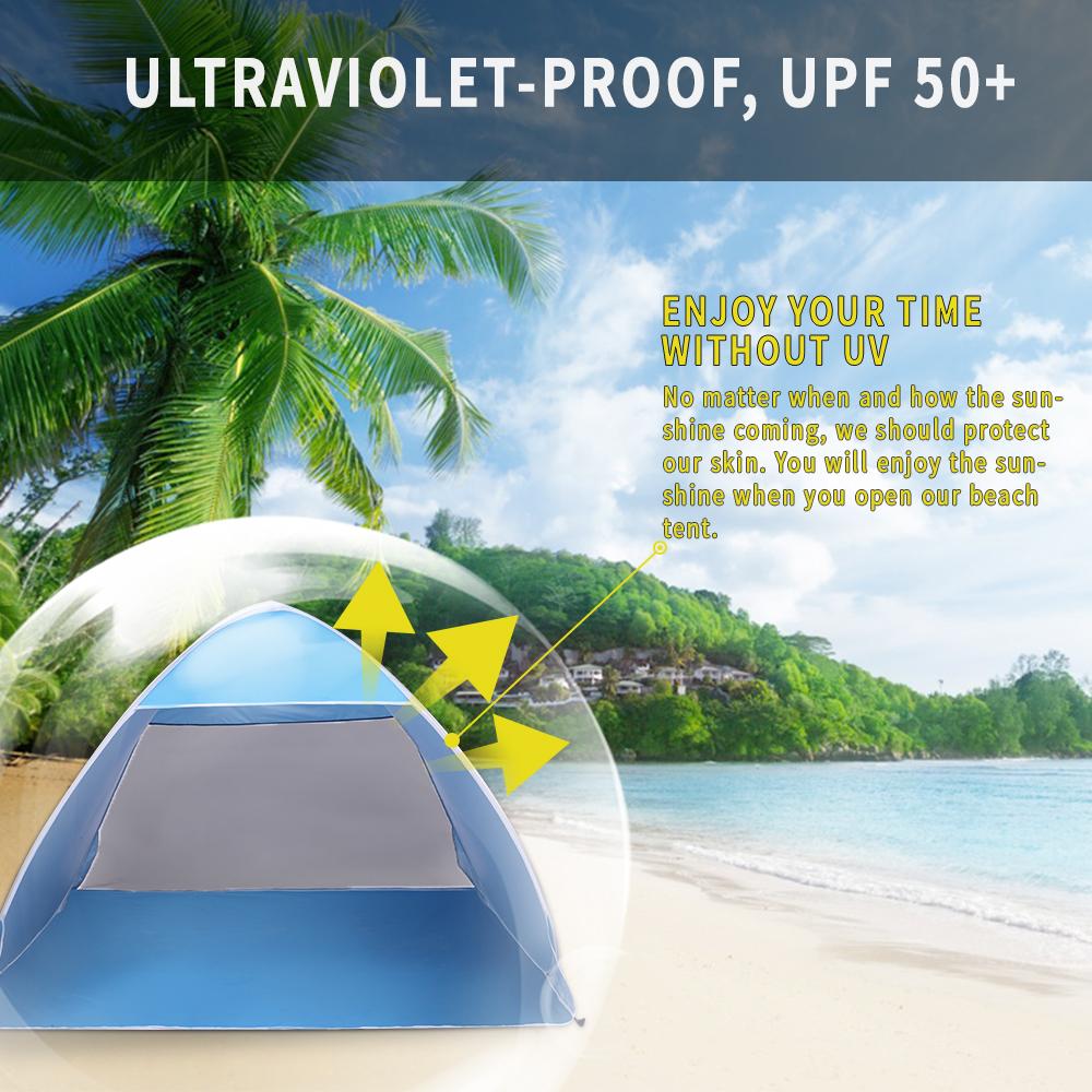 sale retailer a5558 6e35a Details about Pop Up Beach Tent, Sun Shelter Shade Easy Up Portable Anti UV  Cabana Beach Blue