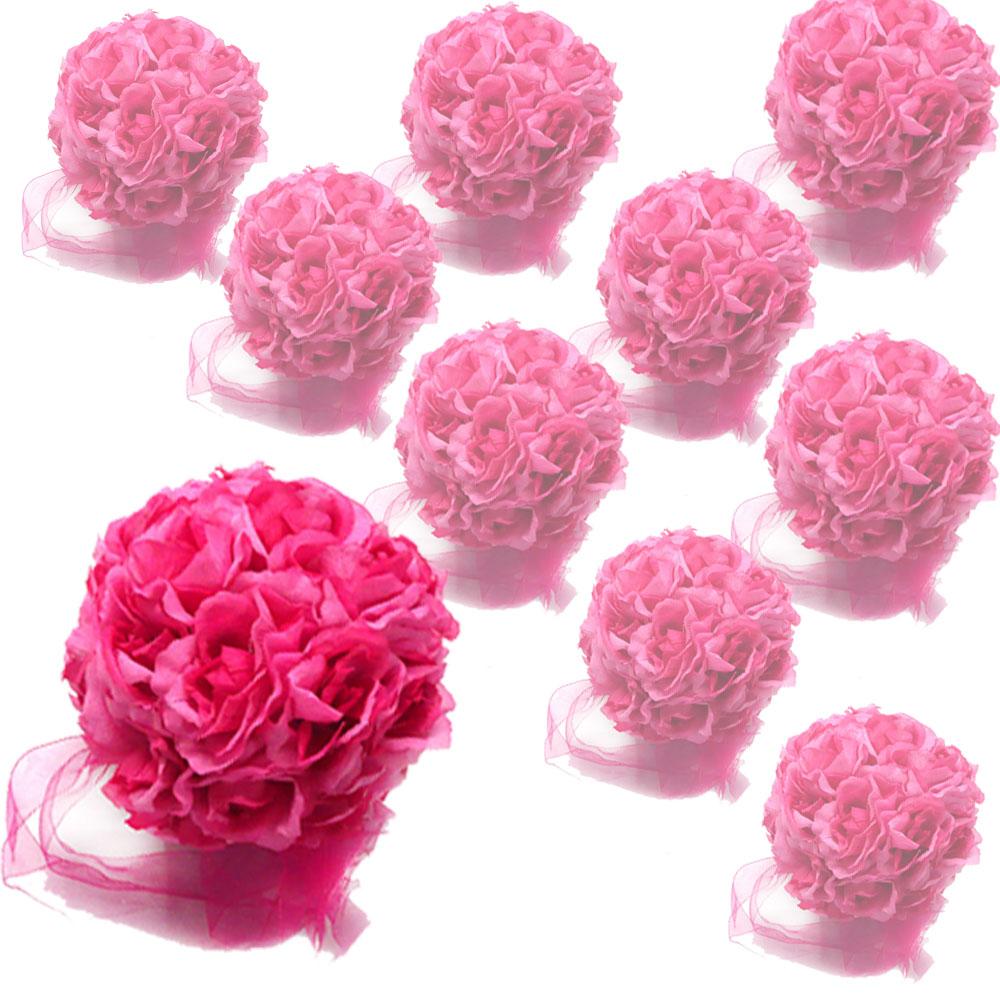 New 5 Rose Kissing Balls Pew Bow Wedding Favor Flower For Wedding
